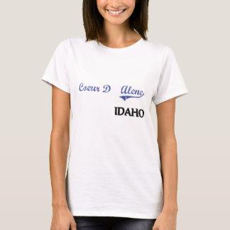 Camiseta Clássico da cidade de Coeur D'Alene Idaho