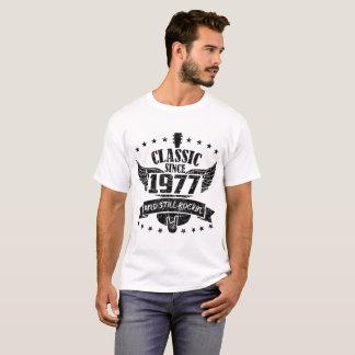 Camiseta clássico desde 1977 e ainda rockin, clássico,