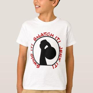 Camiseta Clássico do empurrão do ato de agarrar do balanço