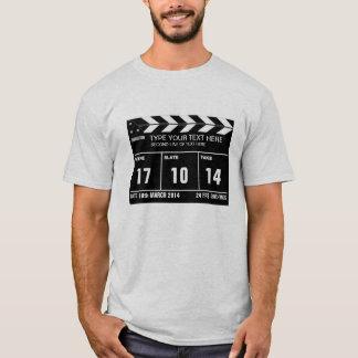 Camiseta Clássico personalizado de Clapperboard