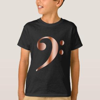 Camiseta Clef baixo de cobre