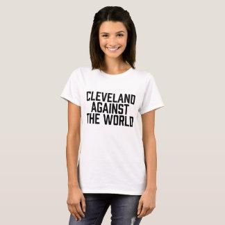 Camiseta Cleveland contra o mundo para o basebol
