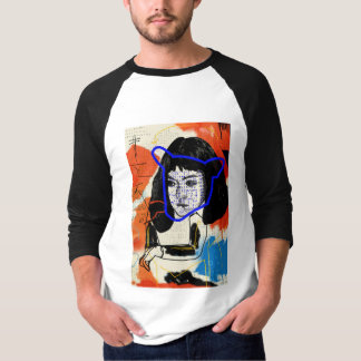 Camiseta Clone abstrato órfão do preto | MK - projeto Leda