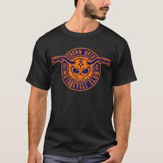 Camiseta Clube de Moto (marinho/batata frita alaranjada)