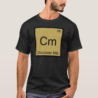 Camiseta Cm - T do símbolo do elemento da química do leite