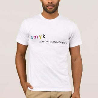 Camiseta CMYK a conexão da cor