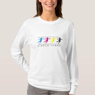 Camiseta CMYK - T-shirt do lance de disco das mulheres