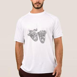 Camiseta Cobalto das máscaras do teatro da comédia e da