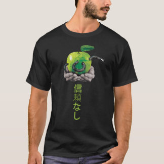 Camiseta Cobra em uma maçã
