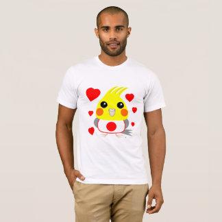 Camiseta Cockatiel do オカメインコオウム com amor para Japão