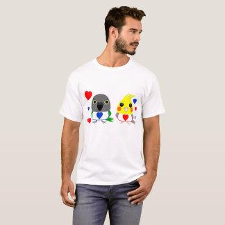 Camiseta Cockatiel do オカメインコオウム & papagaio de Senegal com