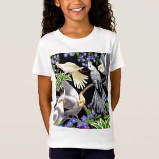 Camiseta Cockatiels e t-shirt da boneca das meninas de