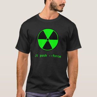 Camiseta Codificador aventuroso: impulso do git --força