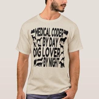 Camiseta Codificador médico do amante do cão