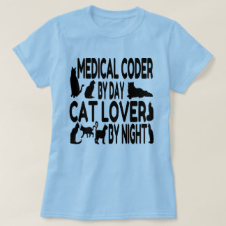 Camiseta Codificador médico do amante do gato