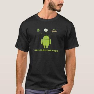 Camiseta Codificará para a comida (o programador de