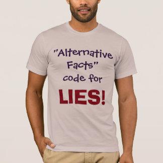 Camiseta Código alternativo dos fatos para MENTIRAS!