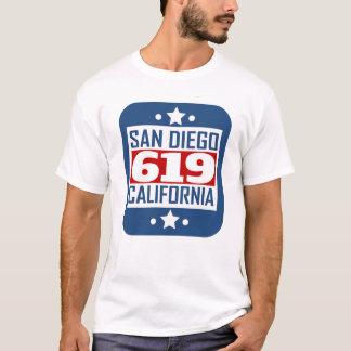 Camiseta Código de área de 619 San Diego CA