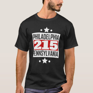 Camiseta Código de área do PA de 215 Philadelphfia
