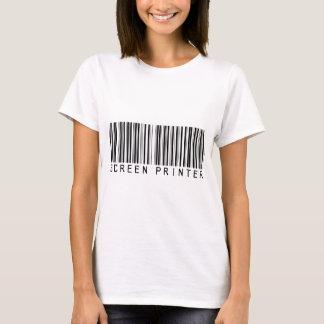 Camiseta Código de barras da impressora da tela