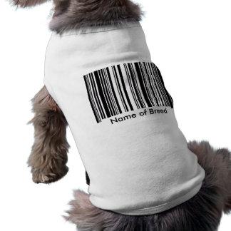 Camiseta Código de barras da raça do cão