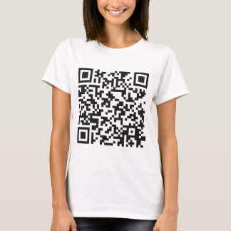 Camiseta Código de barras de QR: Conseguiu a entranhas