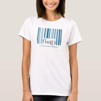 Camiseta Código de barras dianteiro, logotipo traseiro dos
