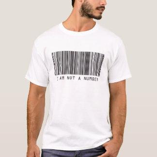 Camiseta Código de barras - eu não sou um número