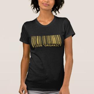 Camiseta Código de barras orgânico de 100%