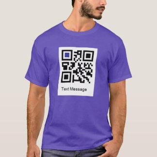 Camiseta Código de QR para, EU SOU ALEGRE
