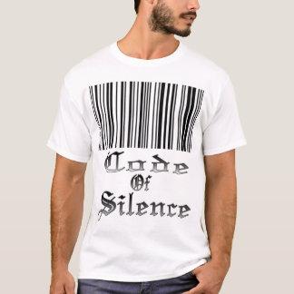 Camiseta Código do t-shirt do silêncio