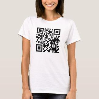Camiseta Código engraçado de QR A curiosidade matou um gato