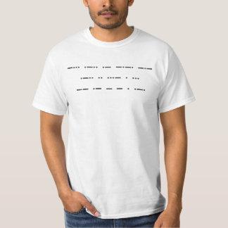 Camiseta Código Morse: Matéria preta das vidas. T-camisa