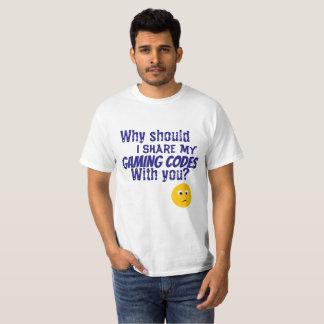 Camiseta códigos do jogo