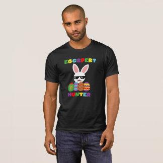 Camiseta Coelhinho da Páscoa cor-de-rosa engraçado da