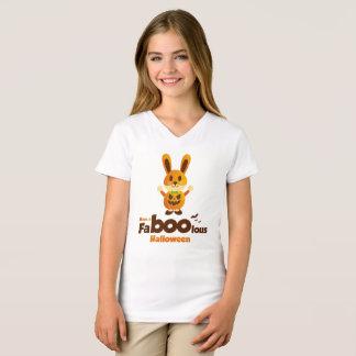 Camiseta Coelho bonito lous do Dia das Bruxas da vaia do Fa