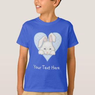 Camiseta Coelho branco - azul
