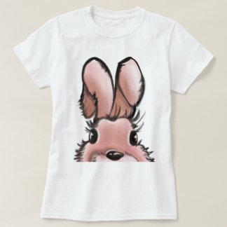 Camiseta Coelho cor-de-rosa