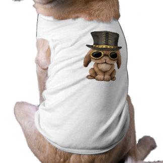 Camiseta Coelho de coelho bonito do bebê de Steampunk