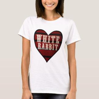 Camiseta Coelho do branco do coração do vintage