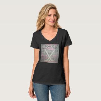 Camiseta Coelho do disco de hóquei
