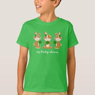 Camiseta Coelhos com os t-shirt do dia de St Patrick dos