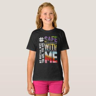 Camiseta Cofre forte comigo o t-shirt escuro da menina da