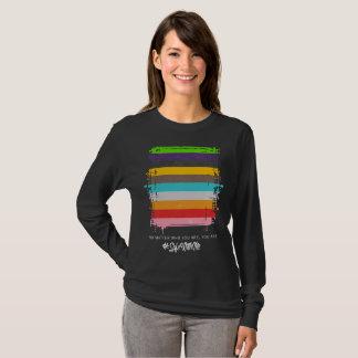 Camiseta Cofre forte comigo t-shirt longo da luva das