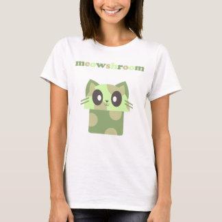 Camiseta cogumelo do gato do gatinho do meowshroom do