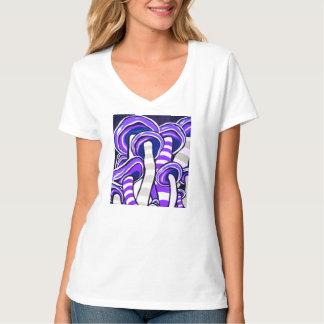 Camiseta Cogumelo psicadélico de Trippie do Hippie roxo