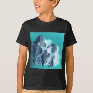 Camiseta Cogumelos de ostra no azul