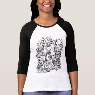 Camiseta Cogumelos fantásticos da flor da floresta