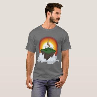 Camiseta Coisa majestosa dos cervos na ilha de flutuação