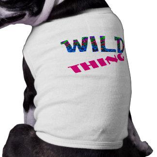 Camiseta Coisa selvagem osso de cão engraçado